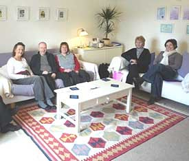 a group of people with chronic fatigue syndrome taking part on the Body<i>Mind</i> programme